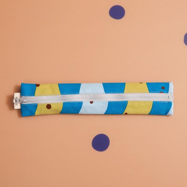 拉鍊餐具袋(含餐具)/珍珠奶茶/清新藍綠 餐具袋