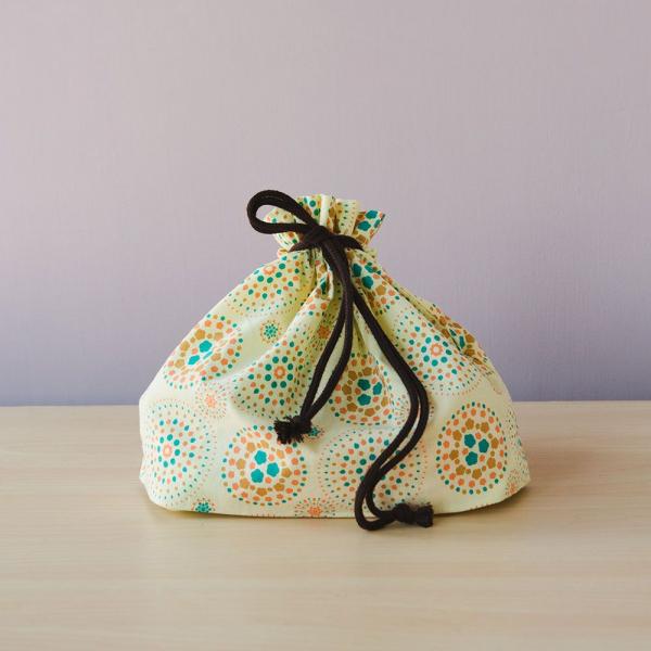 束口旅行衣物袋-L/煙火/檸黃橘藍 旅行衣物袋