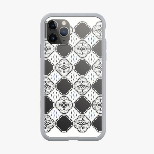 印花樂X犀牛盾NX邊框背蓋兩用殼/玻璃海棠/輕盈白 手機殼, 手機套, 犀牛盾, iPhone 手機殼