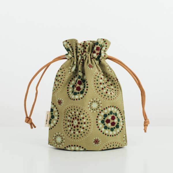 束口小物袋/煙火/橄欖灰綠 束口袋, 收納袋
