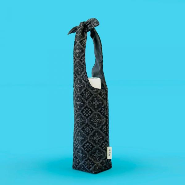 兔耳水壺袋/玻璃海棠/紳士黑色 環保飲料提袋, 隨行杯提袋, 兔耳袋