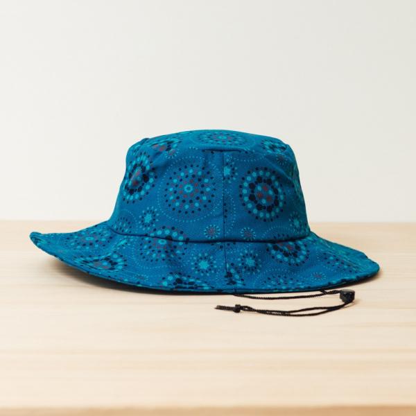 遮陽漁夫帽-可調式/煙火/星夜藍色 漁夫帽, 遮陽帽