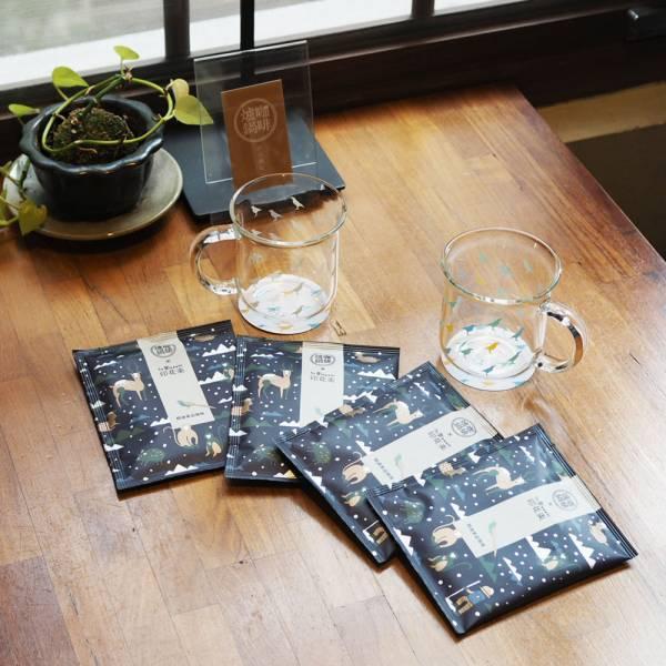 好好喝咖啡組合 【爐鍋咖啡浸泡包+好玻把手水杯】 爐鍋咖啡,咖啡,杯子,玻璃杯,咖啡浸泡包