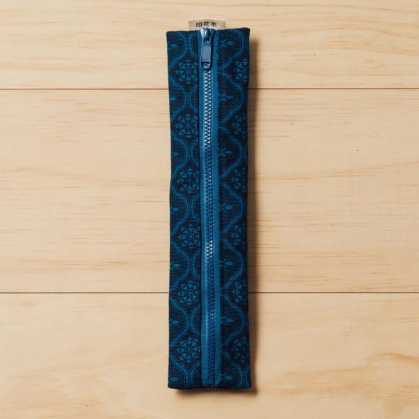 拉鍊餐具袋(含餐具)/玻璃海棠/宅邸深藍 餐具袋