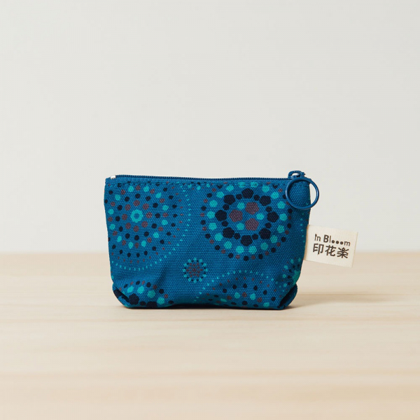 小東西拉鏈包/煙火/星夜藍色 拉鏈包, 零錢包, 收納包