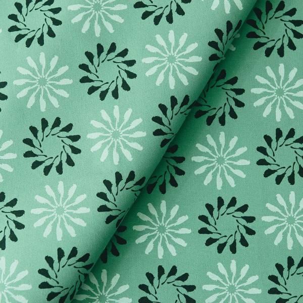 手印棉帆布_滿花-250g/y/烏秋圈圈/草木綠色 布料, 棉帆布, 手作材料