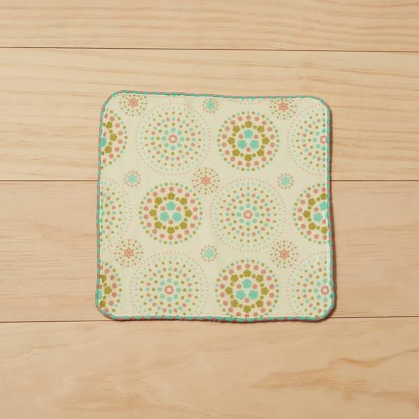 和風雙層小方巾/煙火/粉彩糖 毛巾, 手帕, 方巾