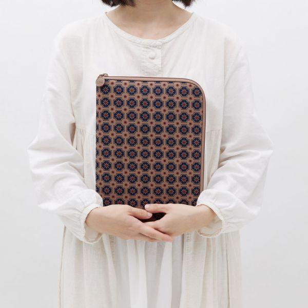 11吋iPad收納包/老磁磚2號/古董藍褐 平板保護殼, 平板保護袋, iPad收納包