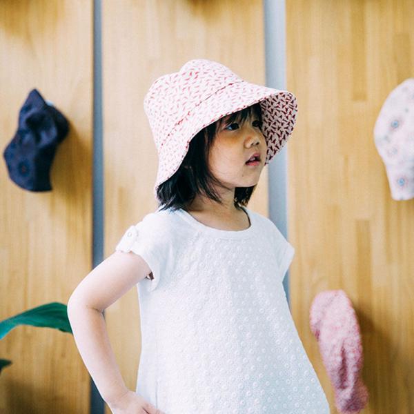 遮陽漁夫帽-兒童/台灣八哥4號/地質粉紅 兒童遮陽帽, 兒童帽, 漁夫帽