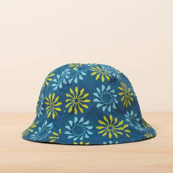 花瓣帽/烏秋圈圈/自在藍綠 遮陽帽, 花瓣帽