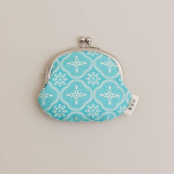 3.3吋口金零錢包/玻璃海棠/冰晶藍綠 口金包, 零錢包, 化妝包