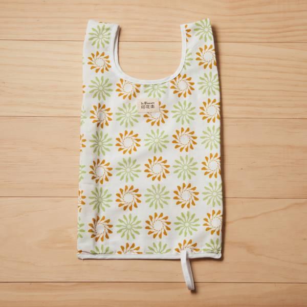 可收捲小背心袋/烏秋圈圈/自然褐綠 手提袋, 背心袋, 購物袋