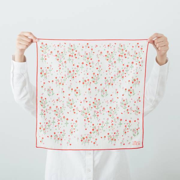 包布巾/花草台灣味/圓仔花粉紅 布巾, 包巾, 手帕