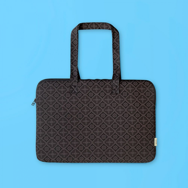 15.5吋筆電收納包/玻璃海棠/紳士黑色 筆電包, 筆電袋