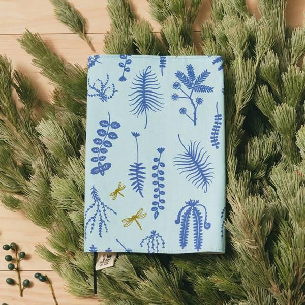 25K布書衣/野花草與蜻蜓/花瓣藍紫 書衣, 小說書衣