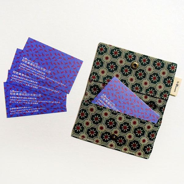 單釦名片夾/老磁磚2號/島嶼邊際/花園灰綠 名片夾
