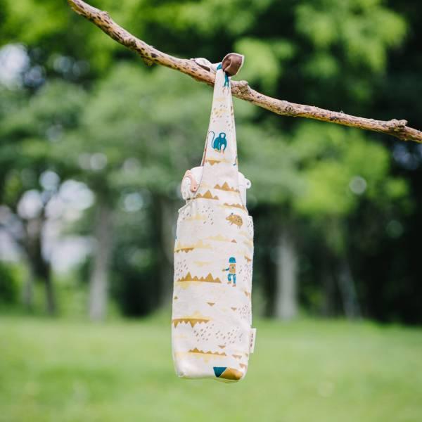 【有機棉】兔耳水壺袋/山中健行/風土黃褐 飲料提袋,環保飲料提袋, 隨行杯提袋, 兔耳袋