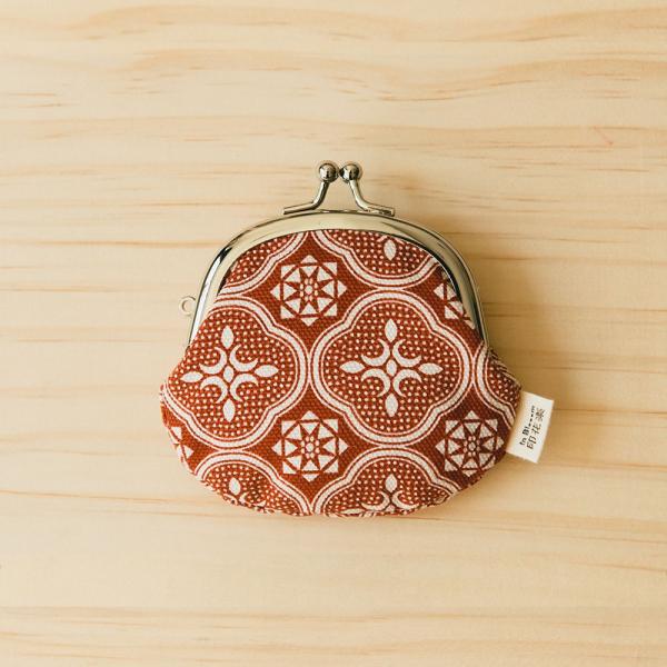 2.6吋口金零錢包/玻璃海棠/名伶深紅 口金包, 零錢包