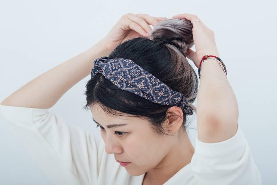 造型髮帶/玻璃海棠/午夜藍褐 髮帶, 配件, 髮飾, 髮箍