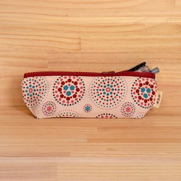 拉鏈筆袋/煙火/絢爛粉紅 筆袋, 文具袋
