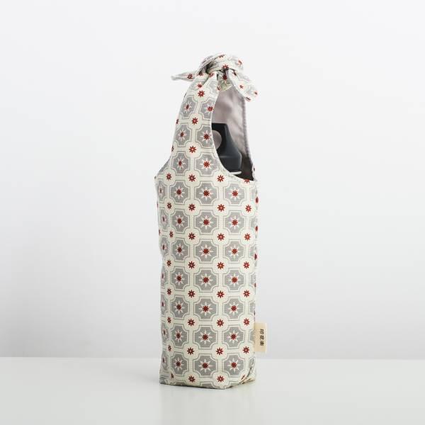 兔耳水壺袋/老磁磚2號/雲塵灰色 飲料提袋, 環保飲料提袋, 隨行杯提袋, 兔耳袋