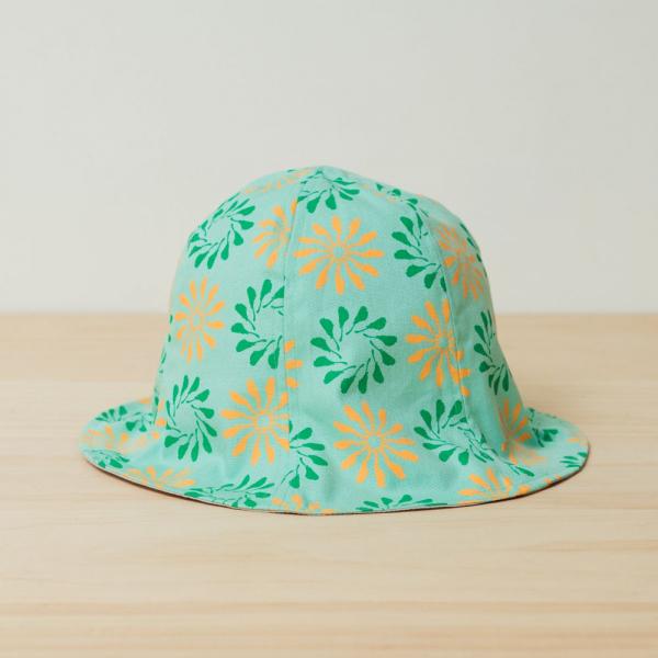 花瓣帽/烏秋圈圈/糖果綠色 遮陽帽, 花瓣帽