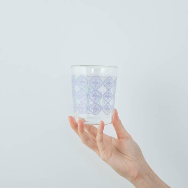 印花樂X好玻-雙層杯/玻璃海棠/仙境藍 玻璃杯,雙層玻璃杯