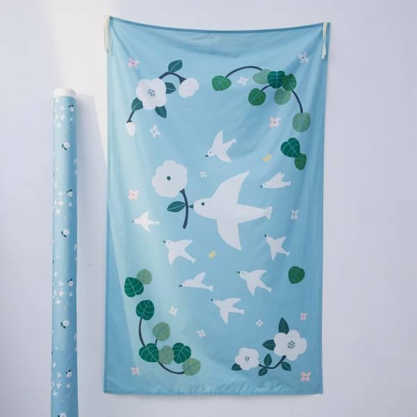 藝術掛簾/藝術家聯名/印花樂 x 米力/幸福白鴿 掛飾,掛布,掛畫,空間佈置,生活佈置,藝術品