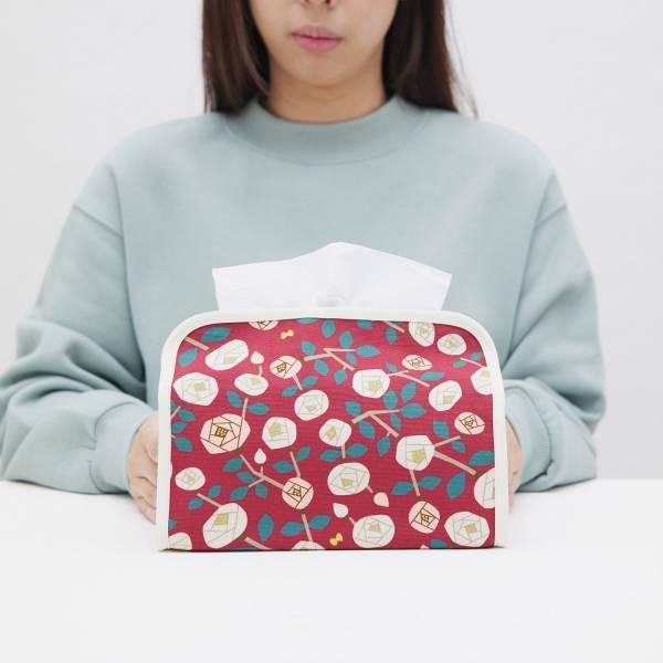 小屋面紙套/藝術家聯名/印花樂 x 米力/玫瑰花紅色 面紙套,面紙盒