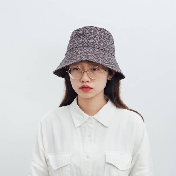 遮陽漁夫帽/玻璃海棠/午夜藍褐 2019,漁夫帽,遮陽帽,台灣八哥