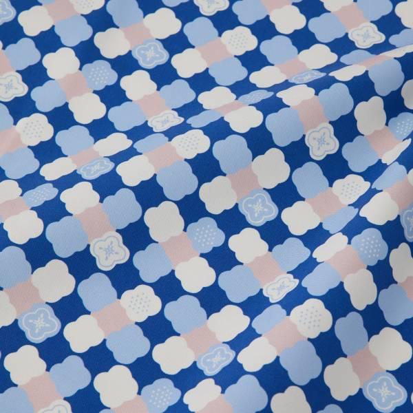 寬幅印花布8N/玻璃海棠2號/學院藍