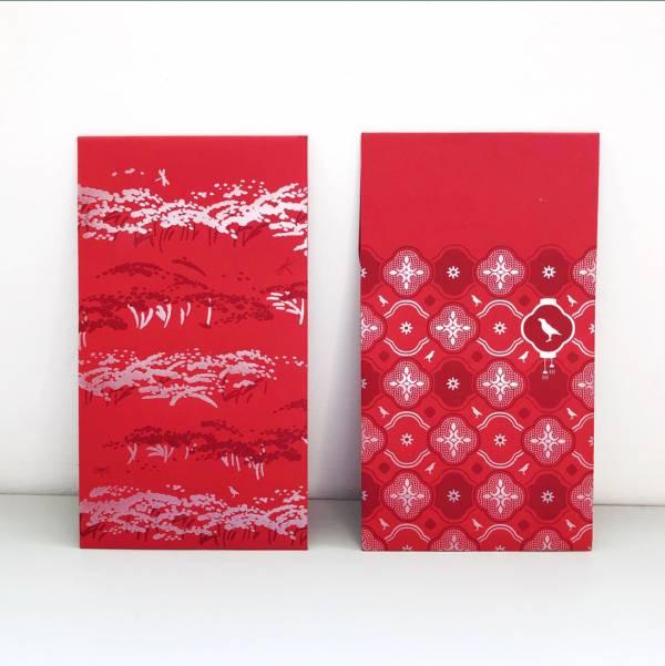 紅包袋/印花經典圖案/燙銀/二入組