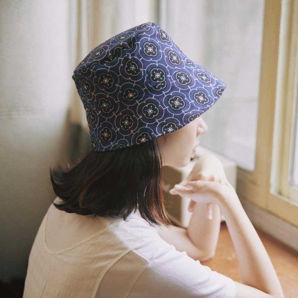 遮陽漁夫帽-玻璃海棠3號/典雅藍