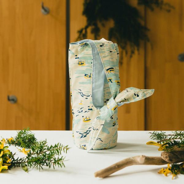 大大兔耳袋/海的寶物_漁船/淺米黃 環保飲料提袋, 隨行杯提袋, 兔耳袋