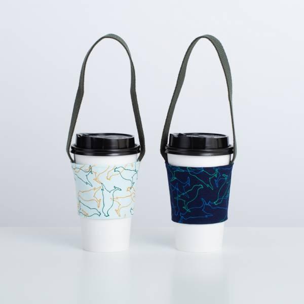 飲料杯提帶兩件組/台灣八哥/白晝藍+幻影深藍 飲料提袋