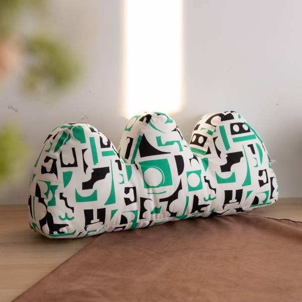 山形抱枕/藝術家聯名/印花樂 x 陳姝里/黑綠 抱枕,靠枕,靠墊