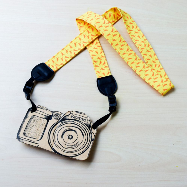 相機揹帶/台灣八哥4號/地質黃 相機背帶
