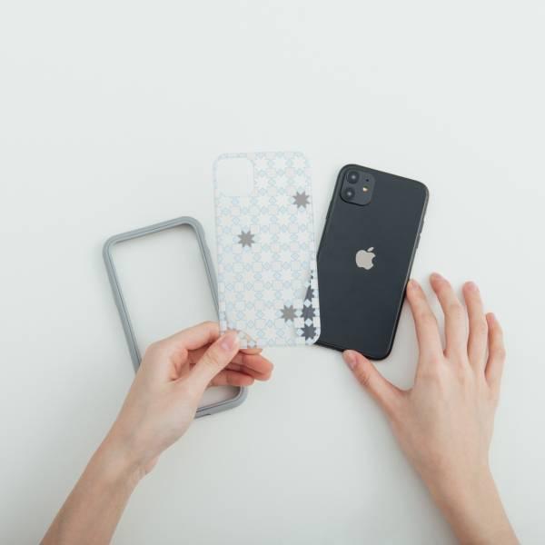 【預購】印花樂X犀牛盾NX背板-iPhone/老磁磚/背蓋星芒灰白 手機殼, 手機套, 犀牛盾, iPhone 手機殼