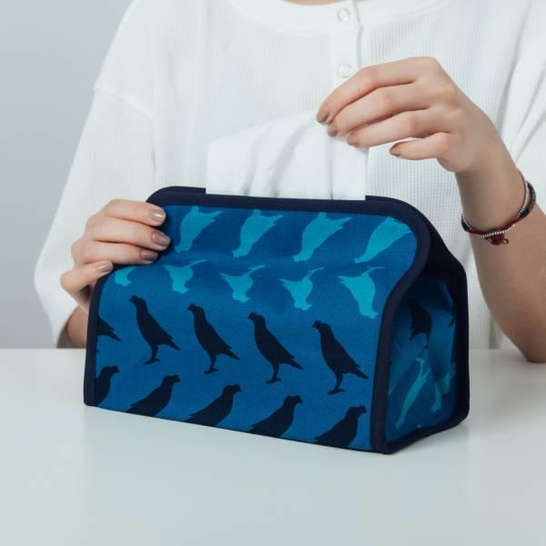 小屋面紙套/台灣八哥5號/湖心藍色 面紙套,面紙盒