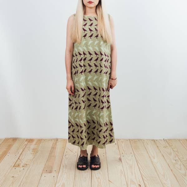 A字連身長洋裝/台灣八哥5號/油畫紫綠 2019,連身裙,洋裝,台灣八哥