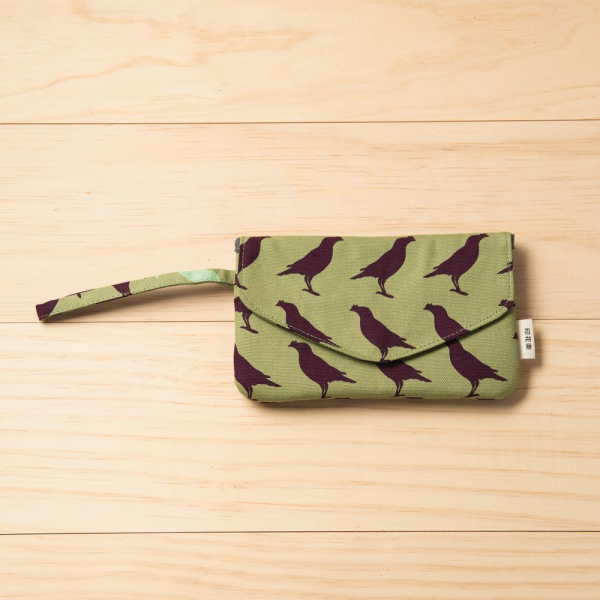 手機掛腕收納袋/台灣八哥5號/油畫紫綠 手機套, 手機收納包, 手機配件