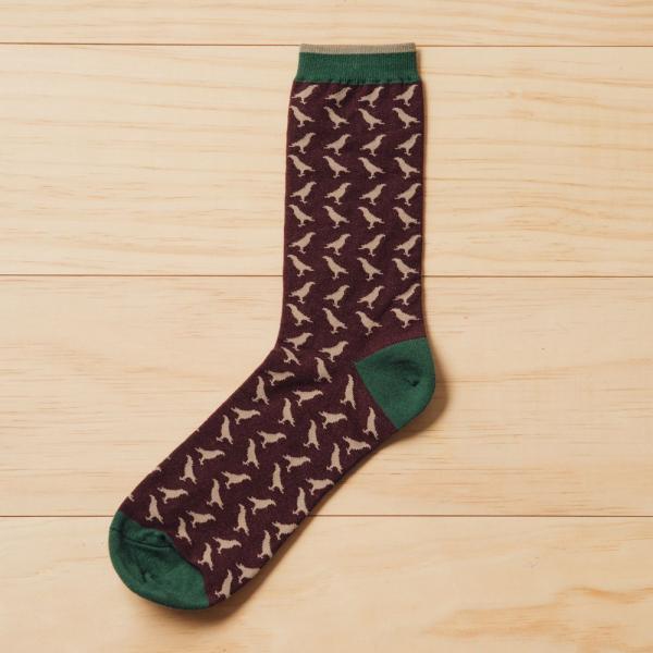 緹花中長襪/台灣八哥/巧克力棕 襪子, 中長襪, 緹花襪