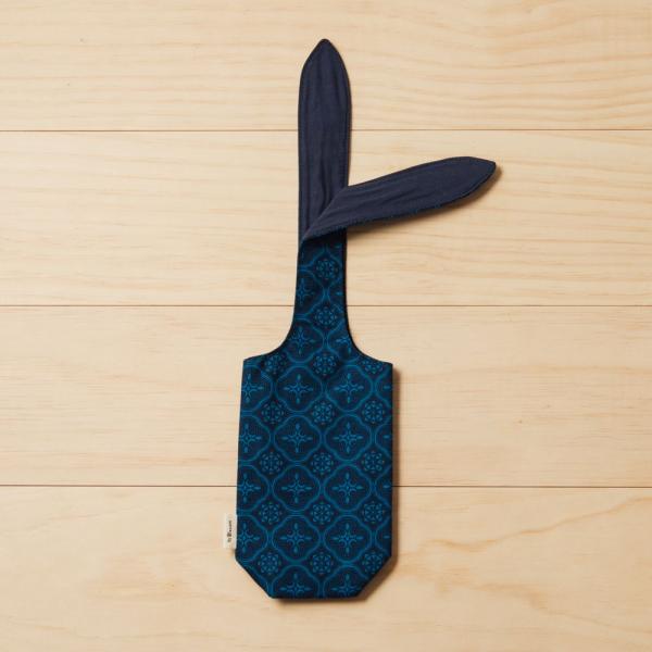 兔耳水壺袋/玻璃海棠/宅邸深藍 環保飲料提袋, 隨行杯提袋, 兔耳袋