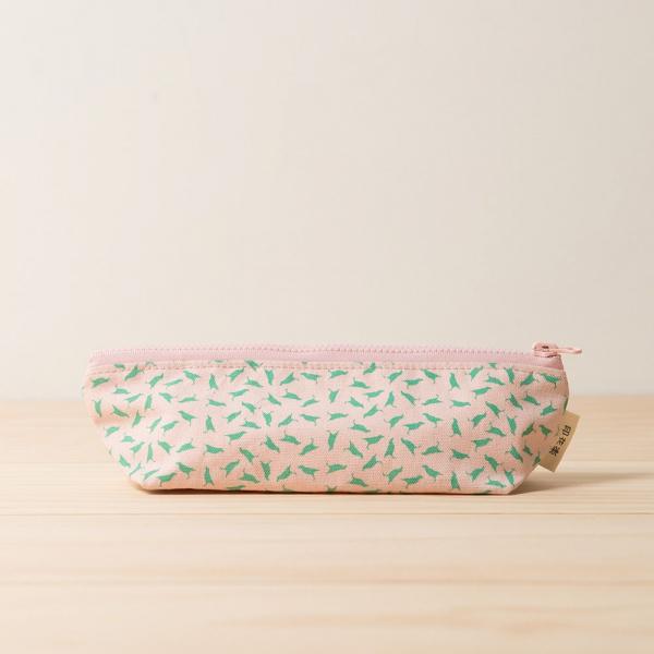 拉鏈筆袋/台灣八哥4號/花卉粉色 筆袋, 文具袋