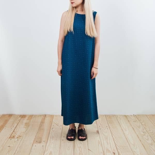 A字連身長洋裝/玻璃海棠/宅邸深藍 2019,連身裙,洋裝,玻璃海棠
