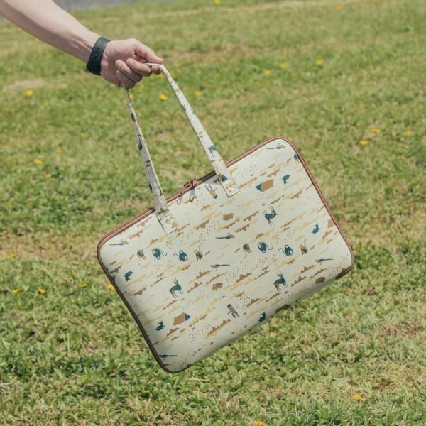 15.5吋筆電收納包-差旅款(有機棉)/山中健行/風土黃褐 筆電包, 筆電袋