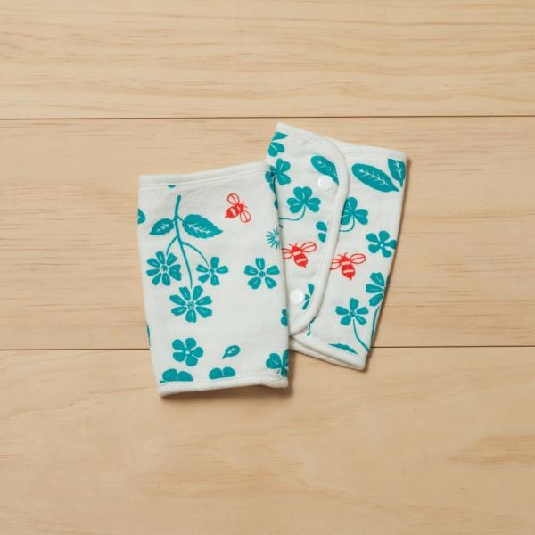 寶寶背帶口水巾二入組/野花草與蜜蜂/天空藍 口水巾, 背帶口水巾