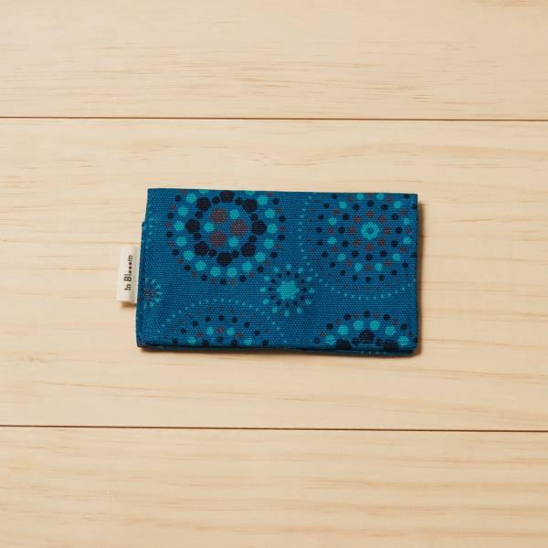單釦名片夾/煙火/星夜藍色 名片夾