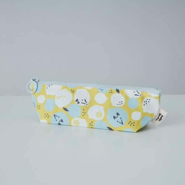拉鏈筆袋/限定花色/印花樂x你好工作室 - 黃檸檬與狐狸