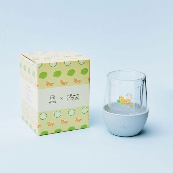 印花樂xHYDY雙層玻璃蛋型杯240ml-限定花色/切片果果/積雲 戀夏冰果室 ,冰果室,復古印花,水杯,玻璃杯